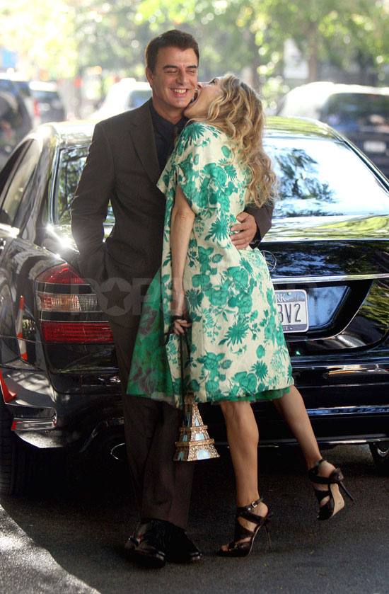 First Look At Carrie And Big on Set Of Sex and the City