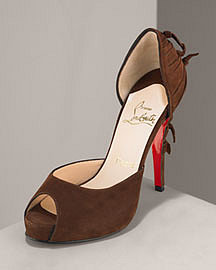 Pre Fall Collection Christian Louboutin Suede Tie d'Orsay?-? Christian Louboutin?-? Neiman Marcus