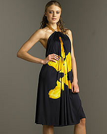 Alexander McQueen Tulip-Print Dress?-? Apparel?-? Neiman Marcus