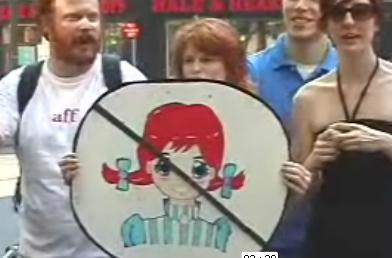 NAARP Protests Wendy's Logo