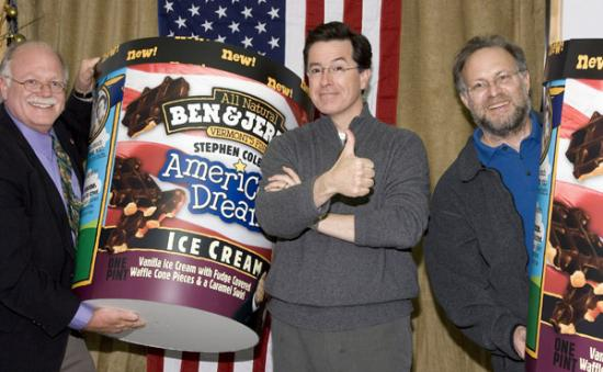"Ben & Jerry Do ""The Colbert Report"""