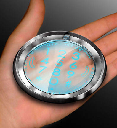 Radia Cell Phone - Clear Circular Concept Phone