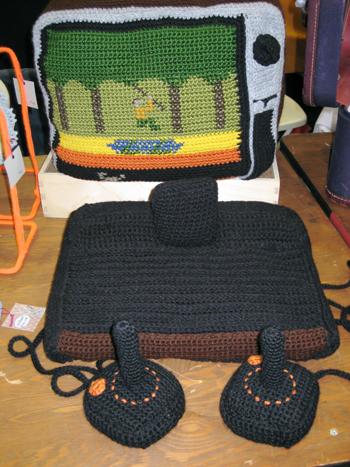 Totally Geeky or Geek Chic? Crocheted Atari