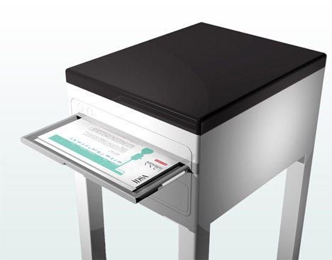 Printer/Table Combo Makes Office Look Better