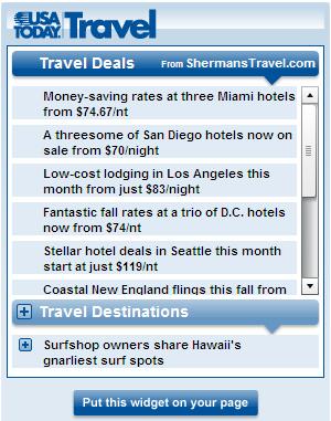 Geek Tip: USA Today Adds New Travel Widget