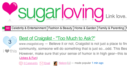 Use sugarloving to Share the Link Love!