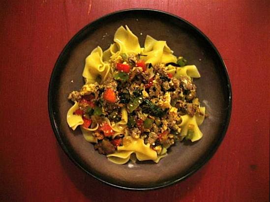 Reader Recipe: Asian Stroganoff/Drunken Noodle Combo
