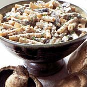 Monday's Leftovers: Pasta with Mushrooms and Goat Cheese