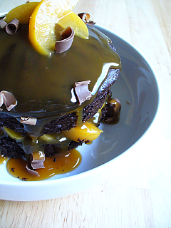 Yummy Link: Warm Chocolate Cake with Brandy Soaked Apricots