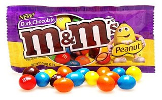 Yummy Link: Dark Chocolate Peanut M&Ms