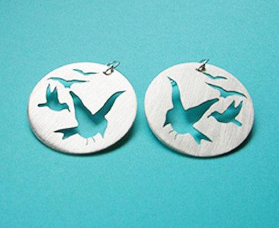.925 Sterling Silver Disc Earrings by Kelly Lyn Raspa