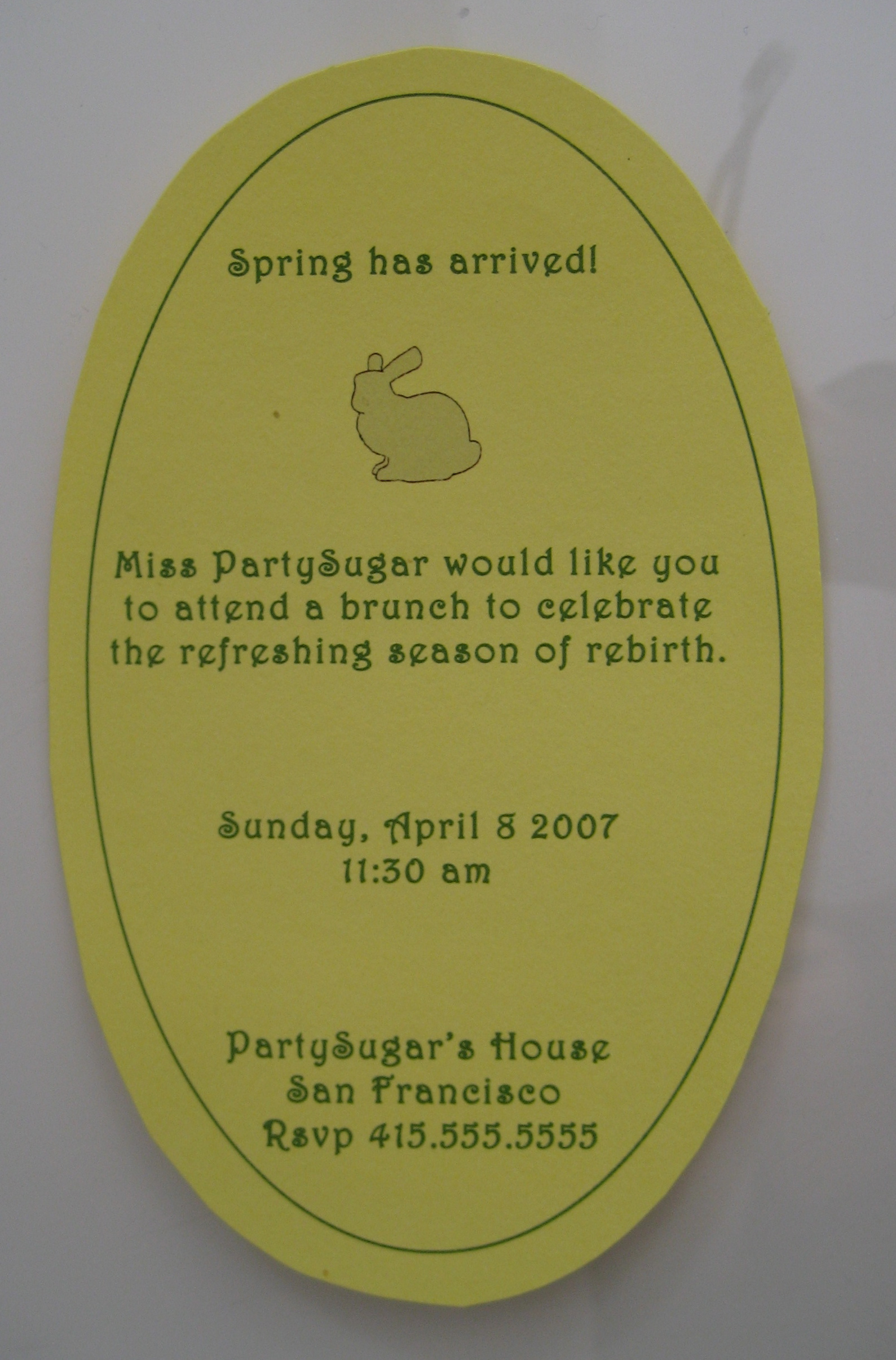 Come Party With Me: Easter - Invites