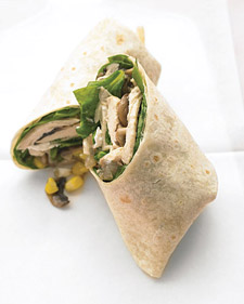 Today's Special: Chicken, Mushroom, and Goat-Cheese Burritos