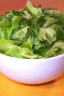 Simple Side Salad with Herbs & Champagne Vinaigrette