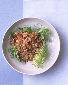 Healthy Fast Salad With Lentils For Dinner
