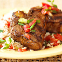 Fast & Easy Dinner: Lamb Chops with Tomatoes