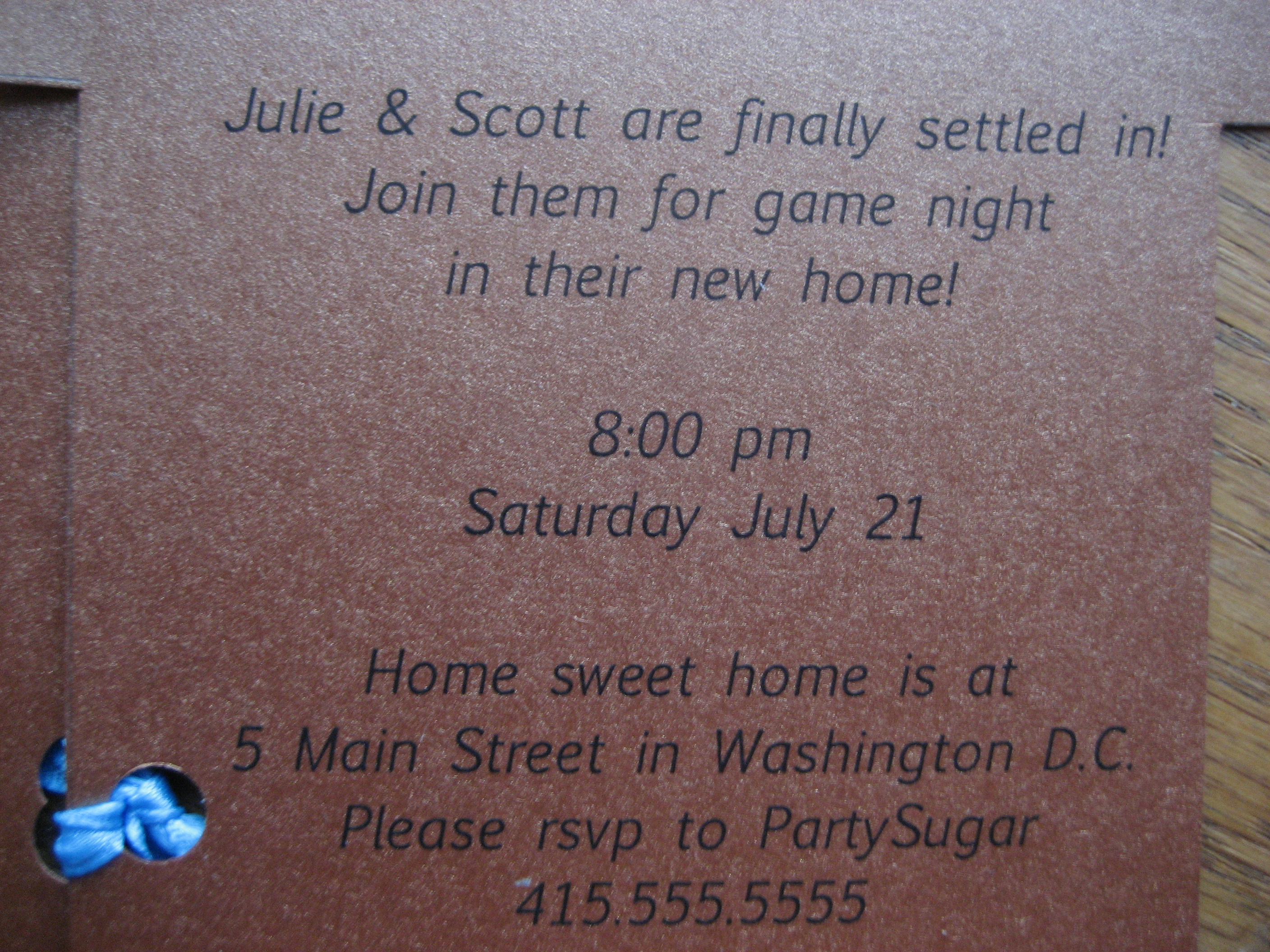 Come Party With Me: Housewarming Party - Invites