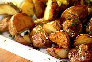 Birthday Dinner Side: Garlic Roast Potatoes