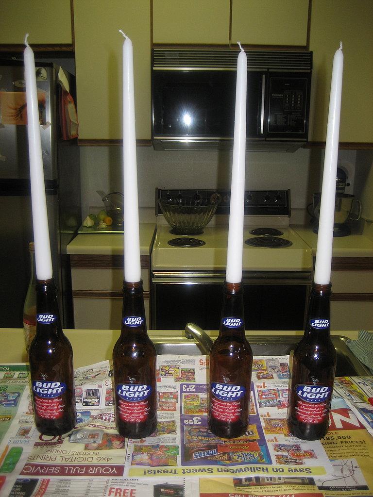 DIY Bloody Halloween Candles