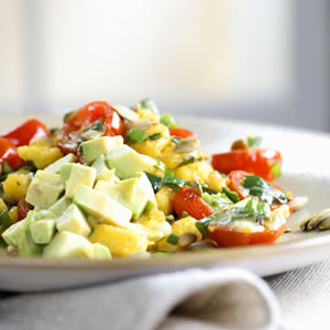 Fast & Easy Dinner: Mexican Polenta Scramble