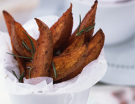 Trendy Side: Roasted Sweet Potato Wedges