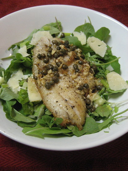 Fast & Easy Dinner: Sole Spinach Salad With Capers
