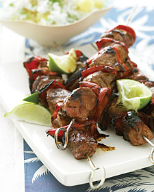 Fast & Easy Dinner: Pork Kebabs With Pineapple Rice