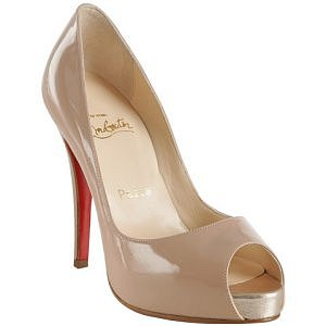 Christian Louboutin dusty rose patent leather pumps
