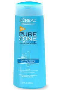 Doing Drugstore: L'Oreal Pure Zone Pore Unclogging Scrub Cleanser