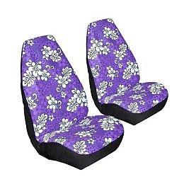 TROPICAL PRINT: Allison Hawaiian Print Bucket Seat Covers Set of 2 - Purple