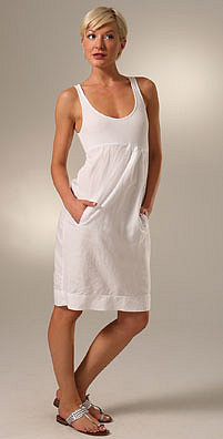 James Perse Gathered Sheath Dress - shopbop.com