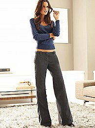 Victoria's Secret - The Marisa Fit wide leg pant in baby wale corduroy