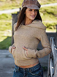 Victoria's Secret - Crop hoodie sweater
