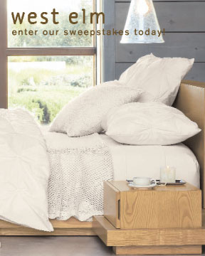 Last Chance! The $5,000 west elm Sweepstakes Ends Sunday!