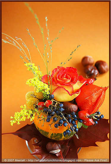 DIY:  Pumpkin Centerpieces