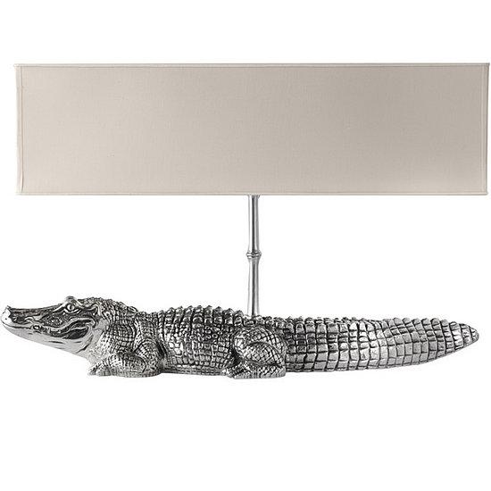 Love It or Hate It? Cipola Pewter Crocodile Lamp