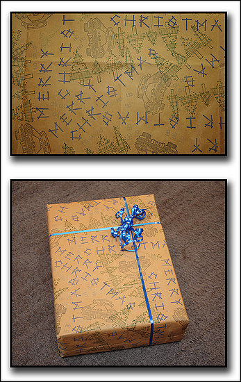 Deck the Haus:  Homemade Wrapping Paper