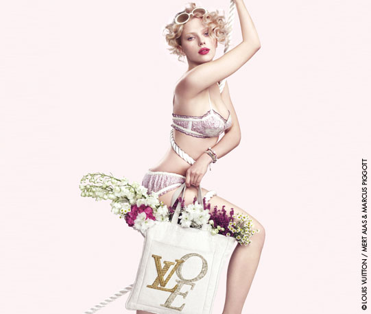 LV handbag ad