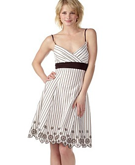 Rate it! Trixxi Embroidered Striped Dress