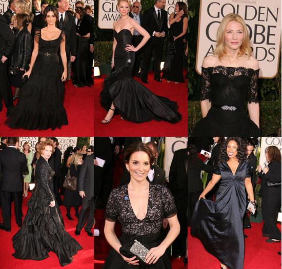 The Golden Globes Red Carpet: Black Magic