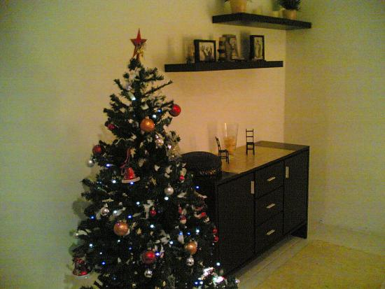 My Christmas Treeeee, and mr snowman:P