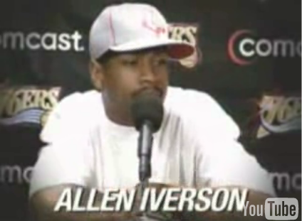 NBA Star Iverson Practices Public Speaking