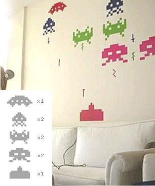 Great Geek Gear Find: Space Invader Wall Decals