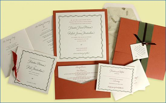 Lovely Letterpress Invitations