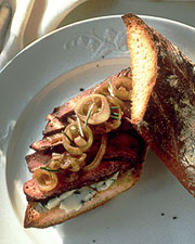 Today's Special: Peppered Steak Sandwiches