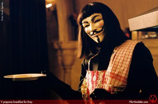 TV Dinners: V For Vendetta - Egg In A Basket