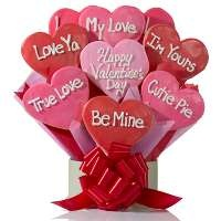 Valentine's Day Gift Idea's for HIM! - DelightfulDeliveries.com Conversation Hearts Cookie Bouquet