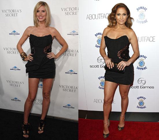 Heidi Klum and Jennifer Lopez Wear the Same Louis Vuitton LBD 2010