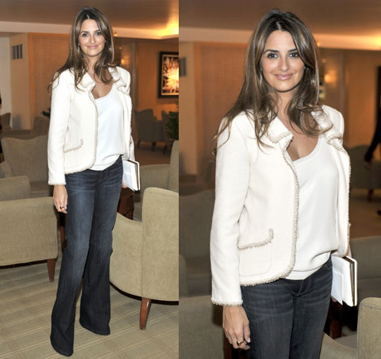 Penelope Cruz At La S L Ermitage Hotel In White Chanel Jacket And