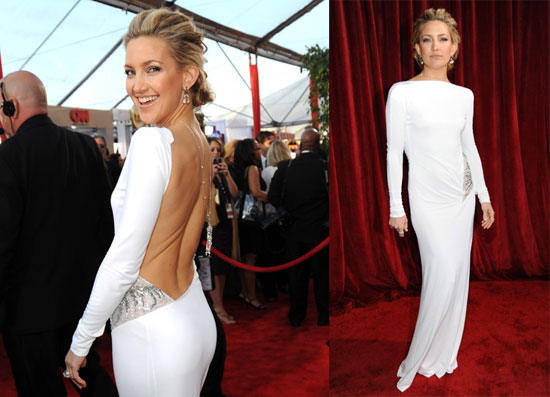 Photos of Kate Hudson in a White Gown at the Screen Actors Guild ...